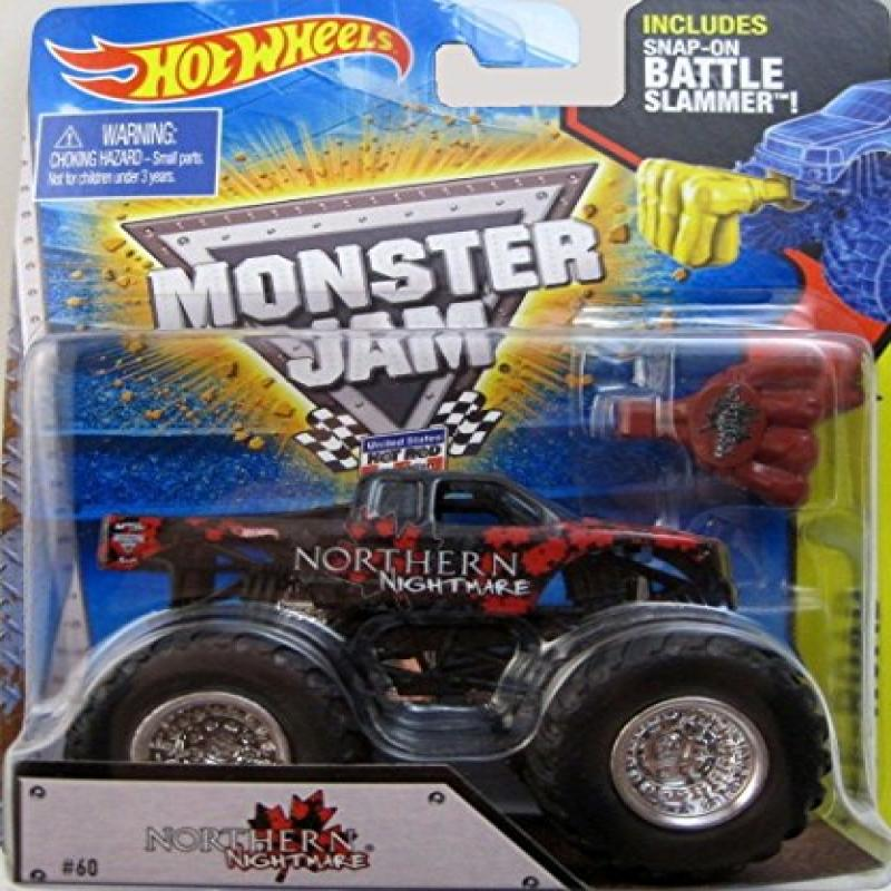 2014 Hot Wheels Monster Jam Northern Nightmare Truck with Battle Slammer 1:64 scale