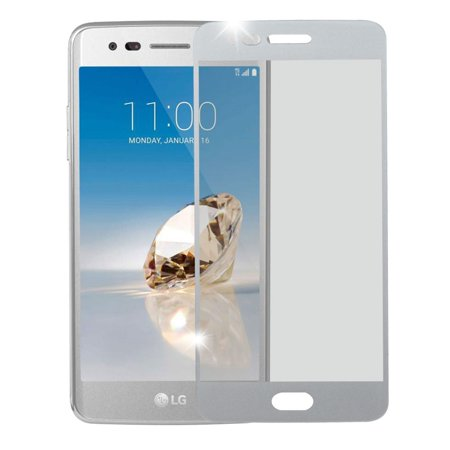 LG Aristo Screen Protector, LG K8 (2017) Screen Protector, by Insten Full Coverage Tempered Glass LCD Film Screen Protector For LG Aristo / Fortune / K8 (2017) / LV3 / Phoenix 3 - Halloween 2017 Film Complet
