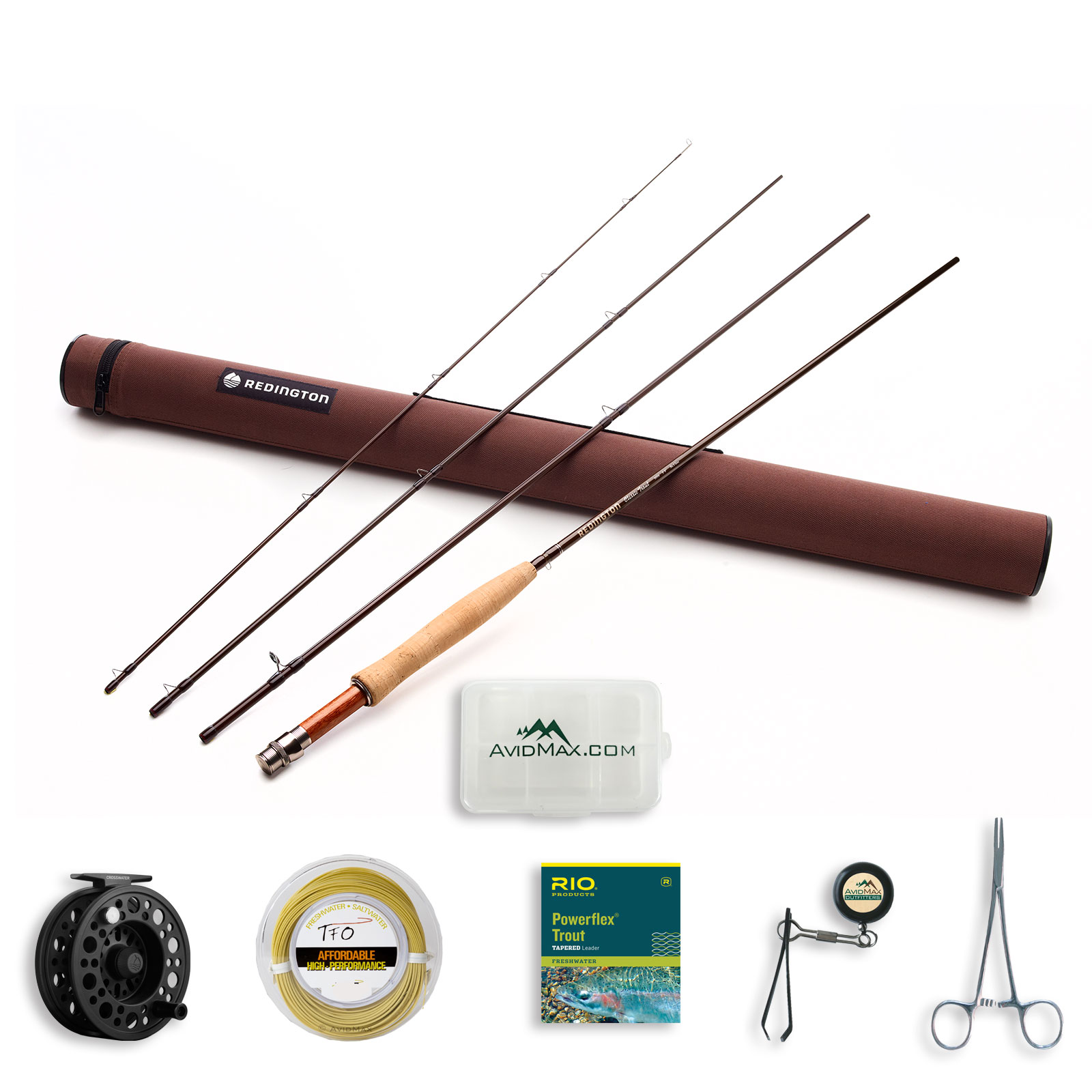 Redington Classic Trout Fly Rod and Crosswater Reel Outfi...