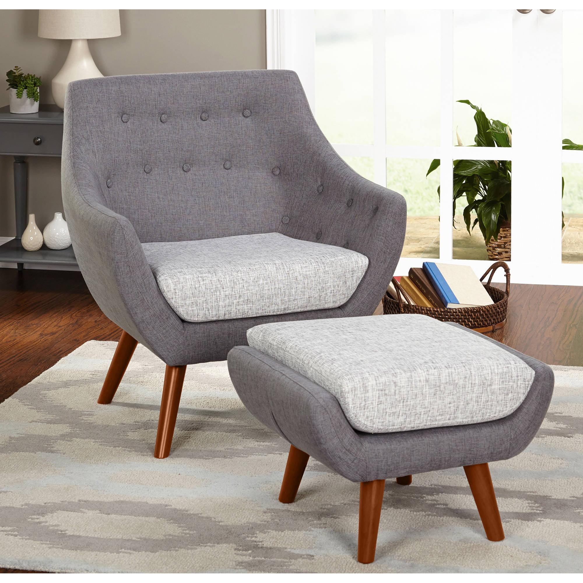 Awesome Elijah Chair And Ottoman Set Walmart Com Andrewgaddart Wooden Chair Designs For Living Room Andrewgaddartcom