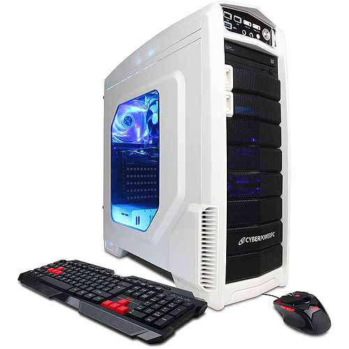 X-Titan Mid-Tower Gaming Case with DVD /-RW Drive, Bundle Only, White
