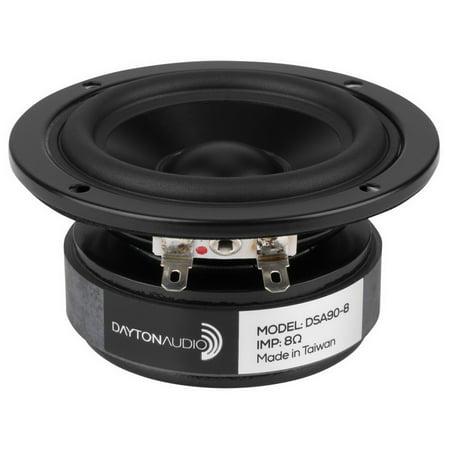 """Dayton Audio DSA90-8 3"""" Designer Series Aluminum Cone Full-Range Driver 8 Ohm"""