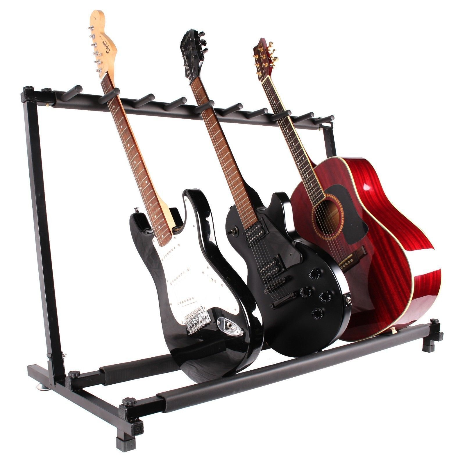 Guitar Stand 9 Holder Guitar Folding Stand Rack Band Stage Bass Acoustic Guitar Stand by sunrain