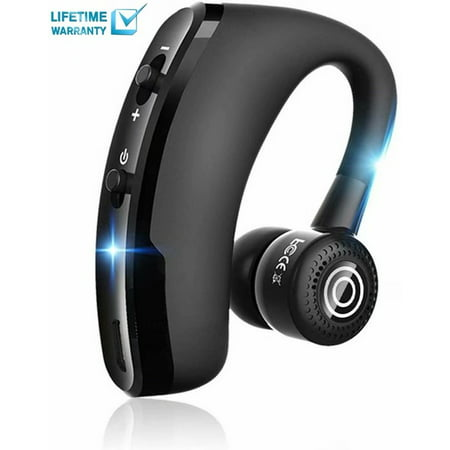 Bluetooth Headset Wireless Business Bluetooth V4.2 Earpiece Ultralight HD Headphones Hands-Free Earphones with Noise Cancellation Microphone Wide Compatible with Cell Phones for Office/Work