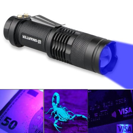 EEEKit Handheld 2 in 1 UV Flashlight LED Tactical Flashlight Handheld Black Light Flashlight,Ultraviolet Urine Detector for Spot Carpet Pet Urine Stain Catch Scorpions,Dry Stains