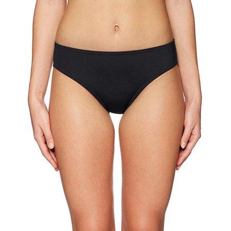 - Jantzen Women's Sport Solid Full French Bikini Bottom Swimsuit, Black SZ  Small