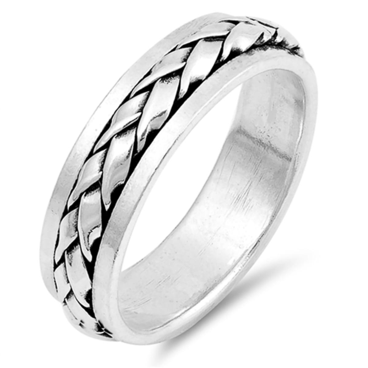 Sterling Silver Spinner Ring 6mm