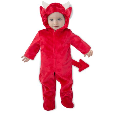 Newborn Baby Devil Romper Halloween Costume](0-3 Month Halloween Costumes)
