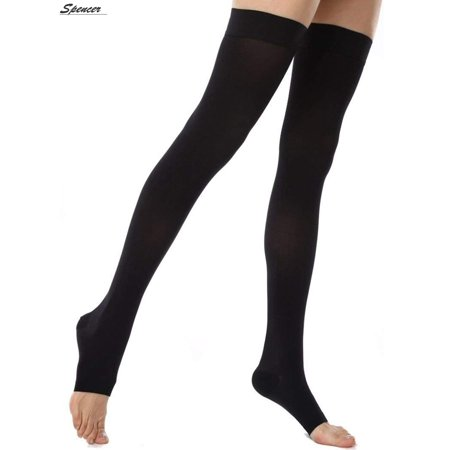 e814567ba Spencer Thigh High Compression Socks Firm Support 20-30 mmHg Varicose Veins  Stockings With Open Toe(XL