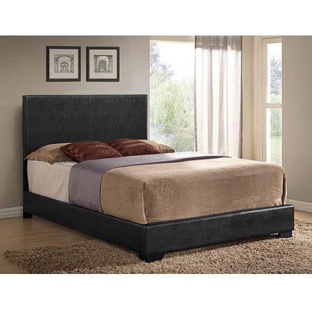 ireland full faux leather bed black. Black Bedroom Furniture Sets. Home Design Ideas