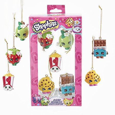 Kurt Adler SH3171 Shopkins Mini Ornament Set (5 Pack) 5 Pack Mini Ornaments
