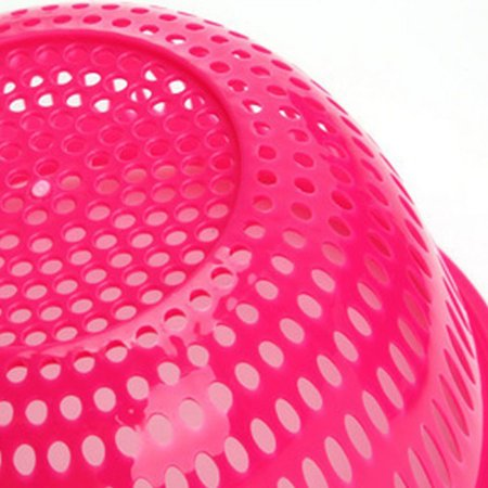 iLH 2 In 1 Red Miniature Double Screen Fruits Vegetables Plastic Drain Basket (Basket Screen)