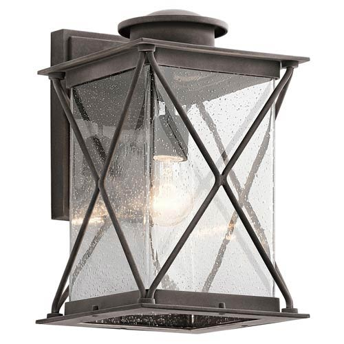 Lincoln Weathered Zinc 9-Inch One-Light Outdoor Wall Sconce