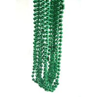 """St Patrick's Day Party Favors, 7mm Round 12 Pack 33"""" Beads Necklaces Green"""