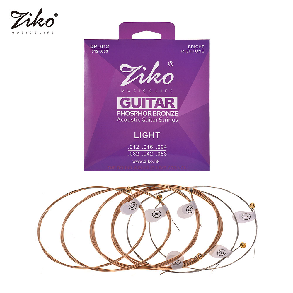 ziko dp 012 light acoustic guitar strings hexagon alloy wire phosphor bronze wound corrosion. Black Bedroom Furniture Sets. Home Design Ideas