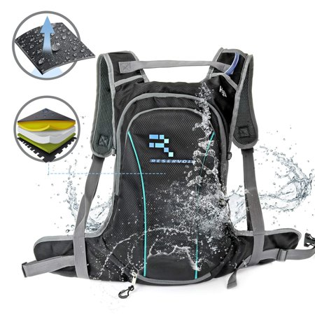 RVOIR High Capacity Hydration Backpack with 1.5L Water Bladder â?? Lasting Comfort & Durability | Insulated Pack Keeping Water Cool 4 + Hours | Light Daypack Design for Hiking, Running, Camping, Sport