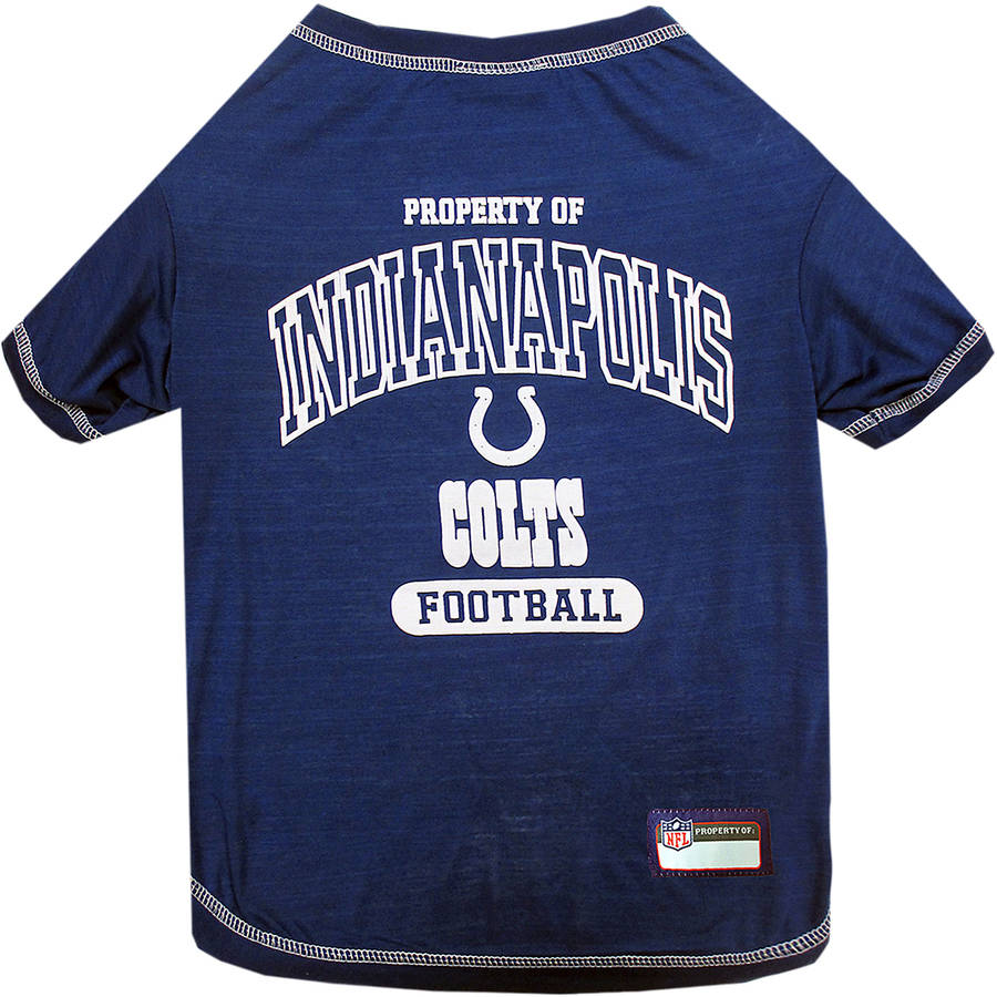 Pets First NFL Indianapolis Colts Pet T-shirt, Assorted Sizes