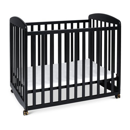 Davinci Alpha Mini Rocking Crib In Ebony Black Walmart Com