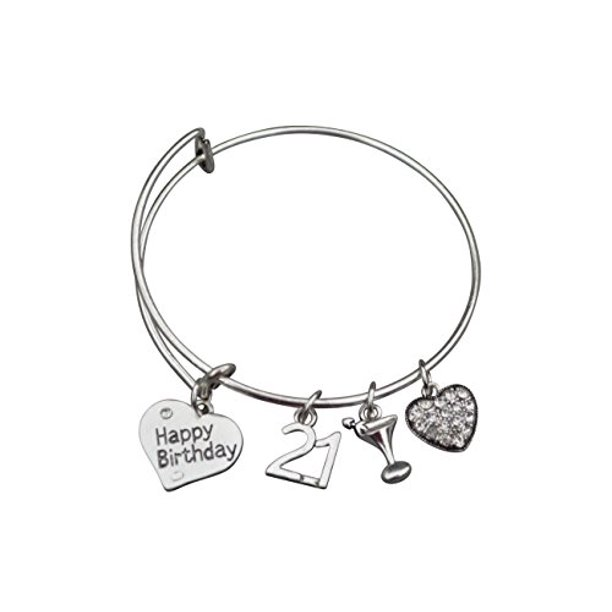Infinity Collection 21st Birthday Gifts For Her 21st Birthday Expandable Charm Bracelet Adjustable Bangle Perfect 21st Birthday Gift Ideas Walmart Com Walmart Com