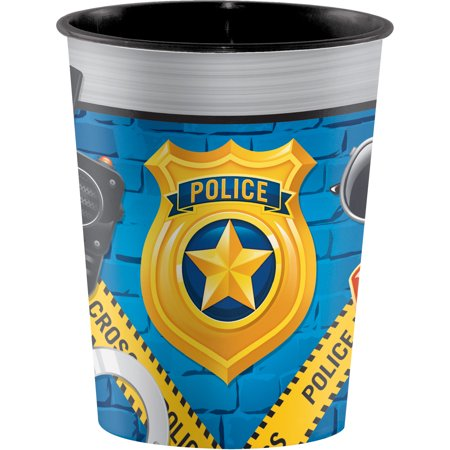 Keepsake Cup (Police Party Plastic Keepsake Cup, 1)