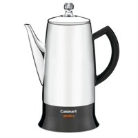 Cuisinart Classic 12-Cup Percolator, Black/Stainless(Certified Refurbished)