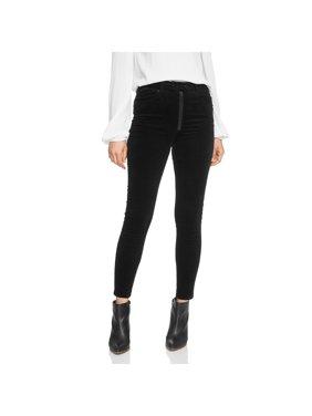 1. STATE Womens Black Pinwale Corduroy Skinny Pants  Size: 6