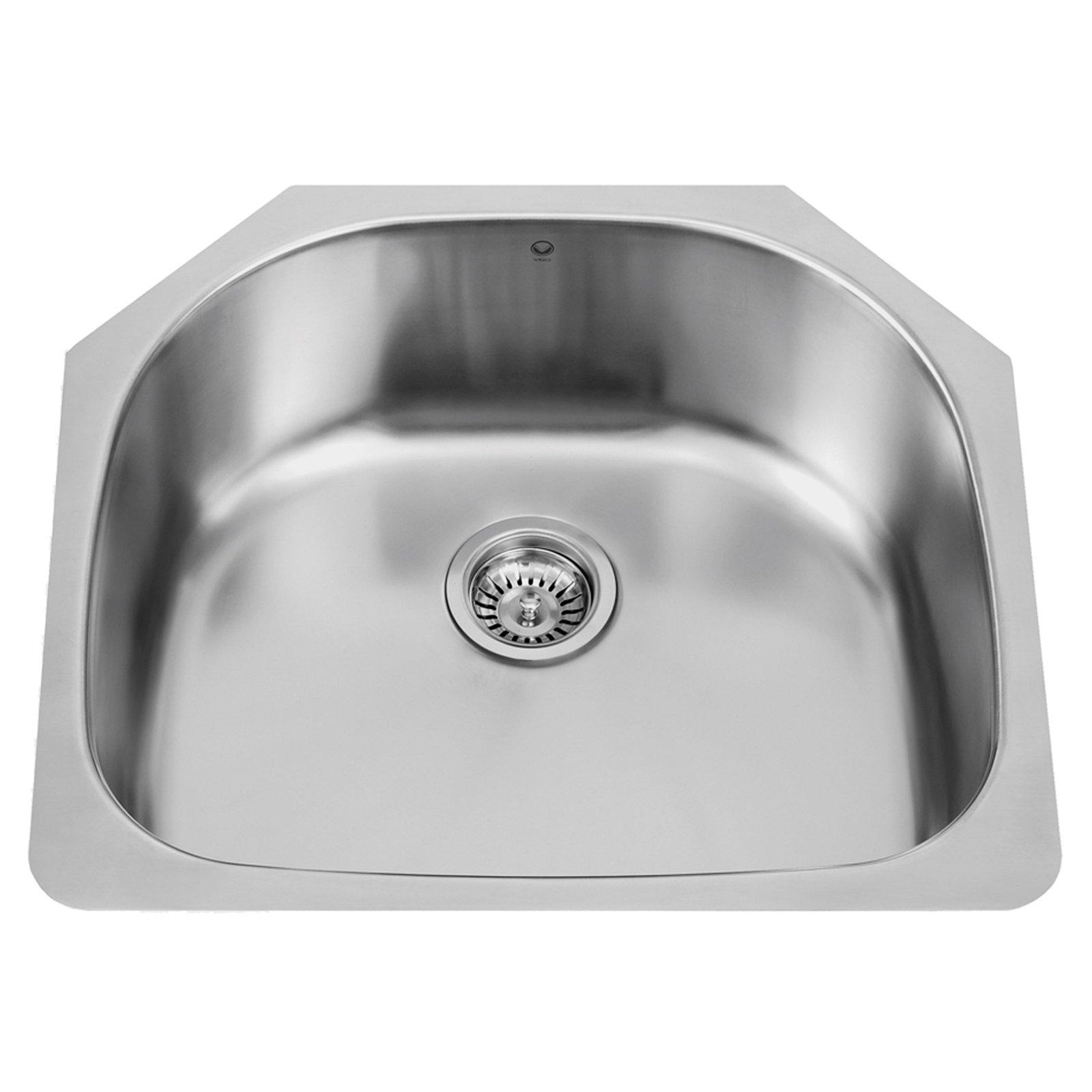 Vigo VG2421 Single Basin Undermount Kitchen Sink