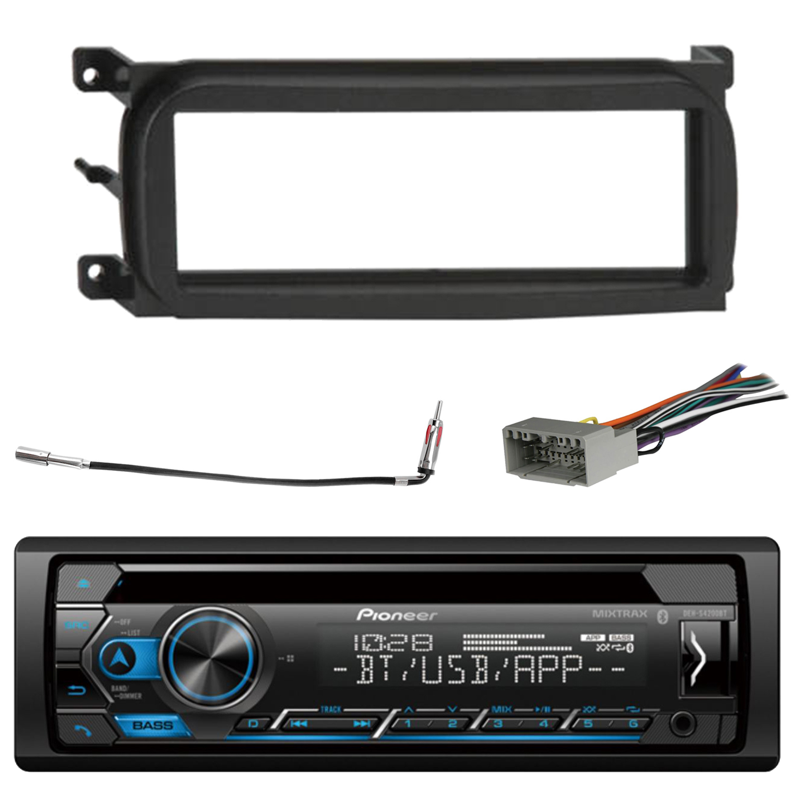 Pioneer DEH-S4100BT Single Din Car CD Stereo Radio Install Dash Mount Kit
