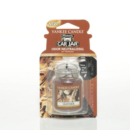 Yankee Candle Car Jar Ultimate Hanging Air Freshener, Leather