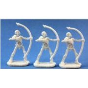 Reaper Miniatures Skeletal Archer (3) #77018 Bones Plastic D&D RPG Mini Figure