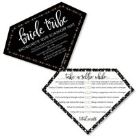 Bride Tribe - Selfie Scavenger Hunt Bridal Shower & Bachelorette Party Game - Set of 12