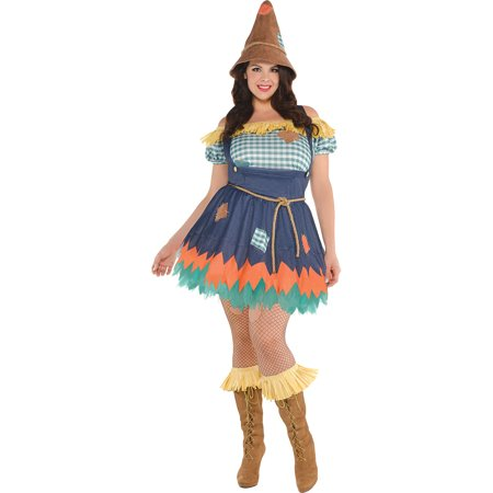 Scarecrow Halloween Costume for Women, Wizard of Oz, Plus Size, with
