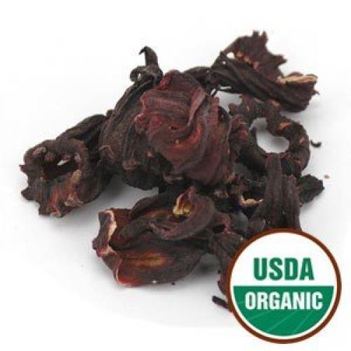 Starwest Botanicals Hibiscus Flowers Whole Petals Organic, 1 Pound