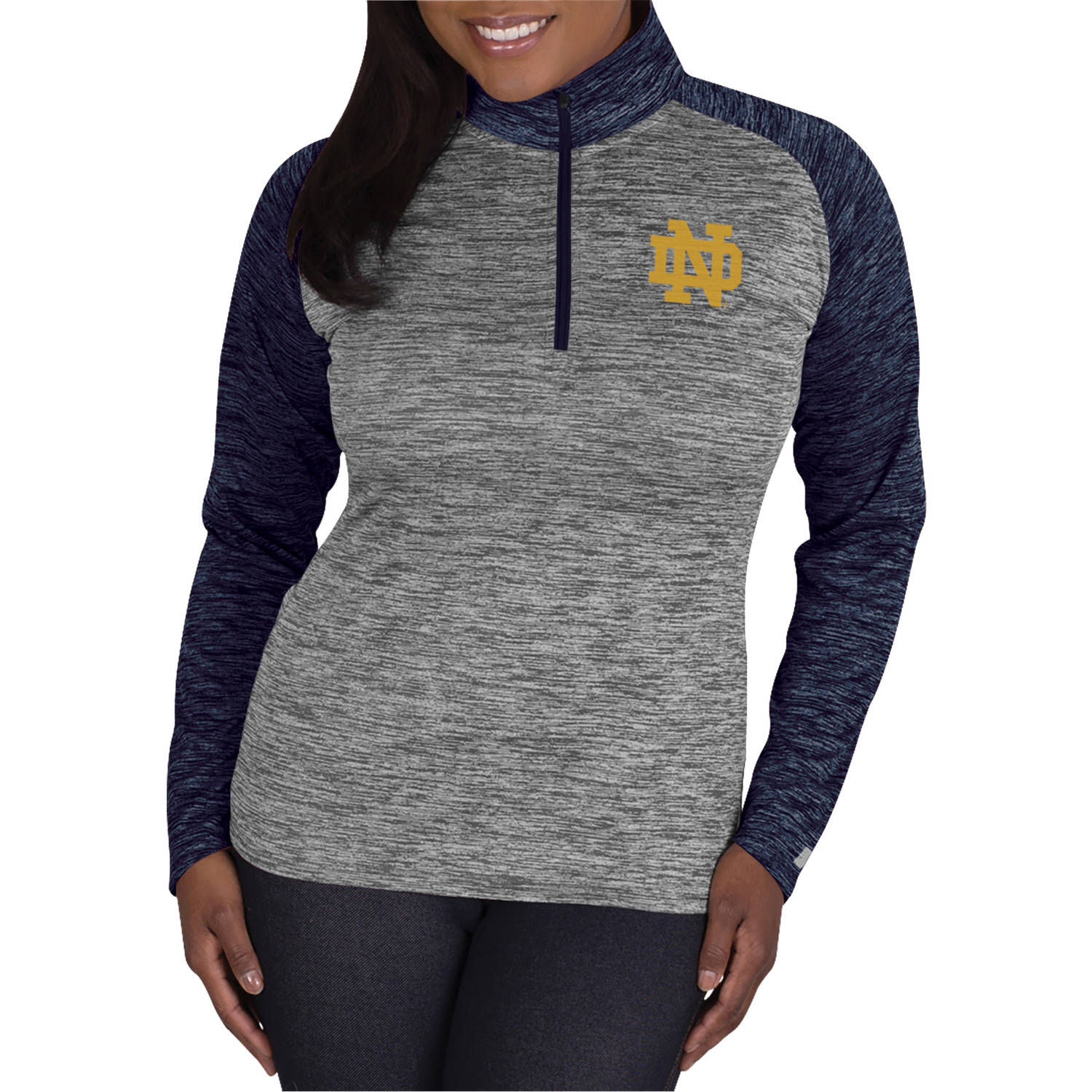 NCAA Notre Dame Fighting Irish Ladies 1/4 Zip Athletic-Fitness Pullover