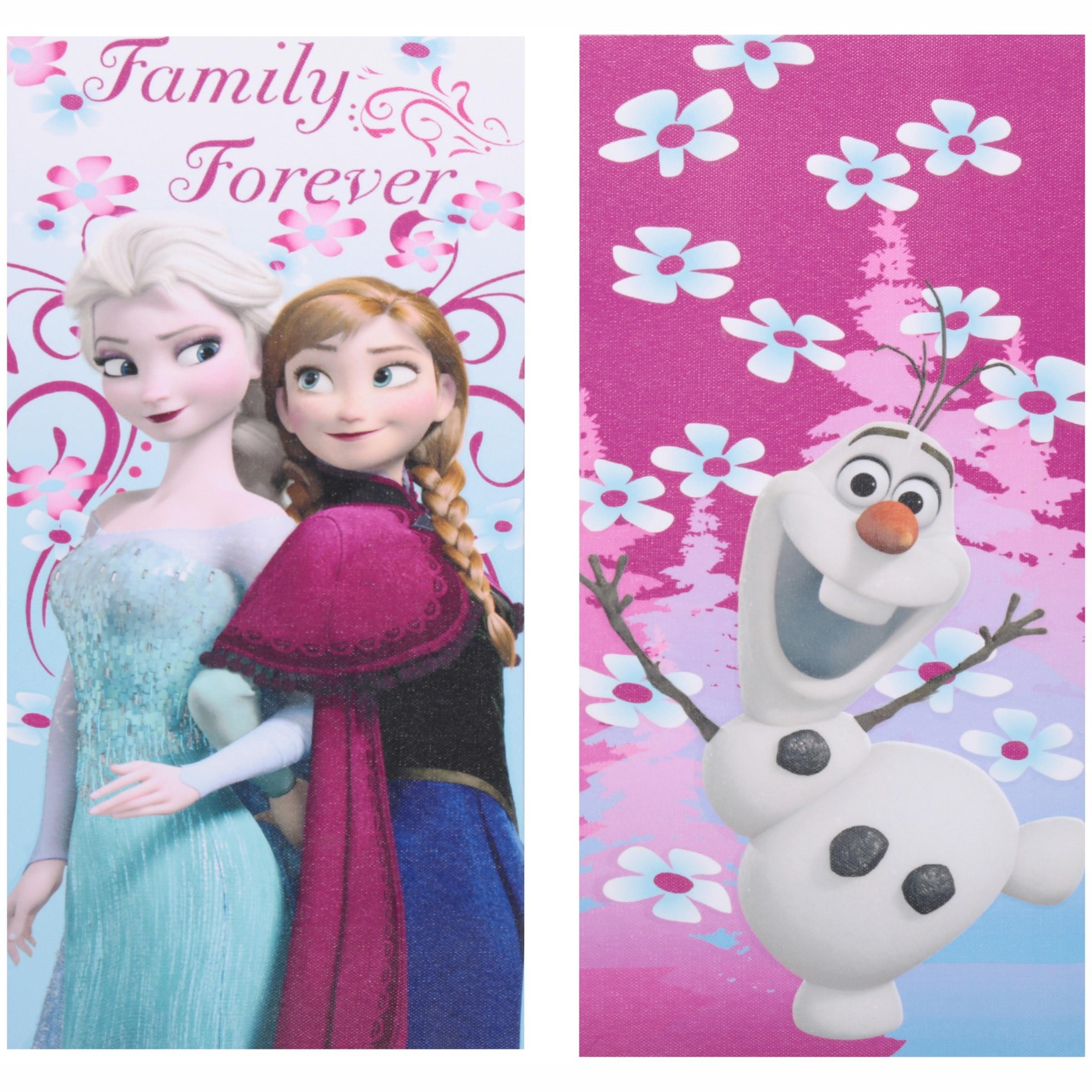 Disney Frozen Glow in the Dark Canvas Wall Art, 2-Count
