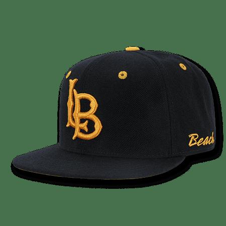 Flat Bill Baseball - NCAA CSULB Long Beach State 49ers California Flat Bill Accent Baseball Caps Hat