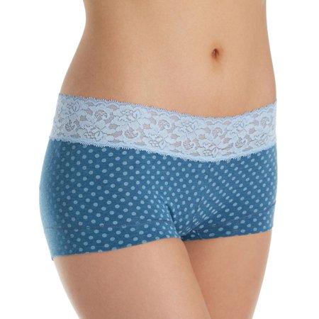 Women's Maidenform 40859 Dream Cotton Boyshort With Lace Panty Aerie Lace Boyshort