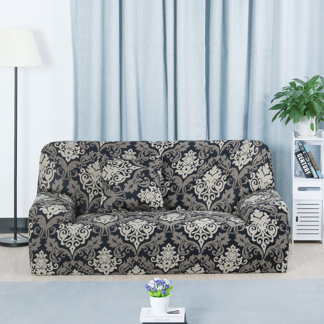 Stretch Chair Sofa Covers 1 2 3 4 Seater Style 14 Sofa-3seater - image 4 of 8