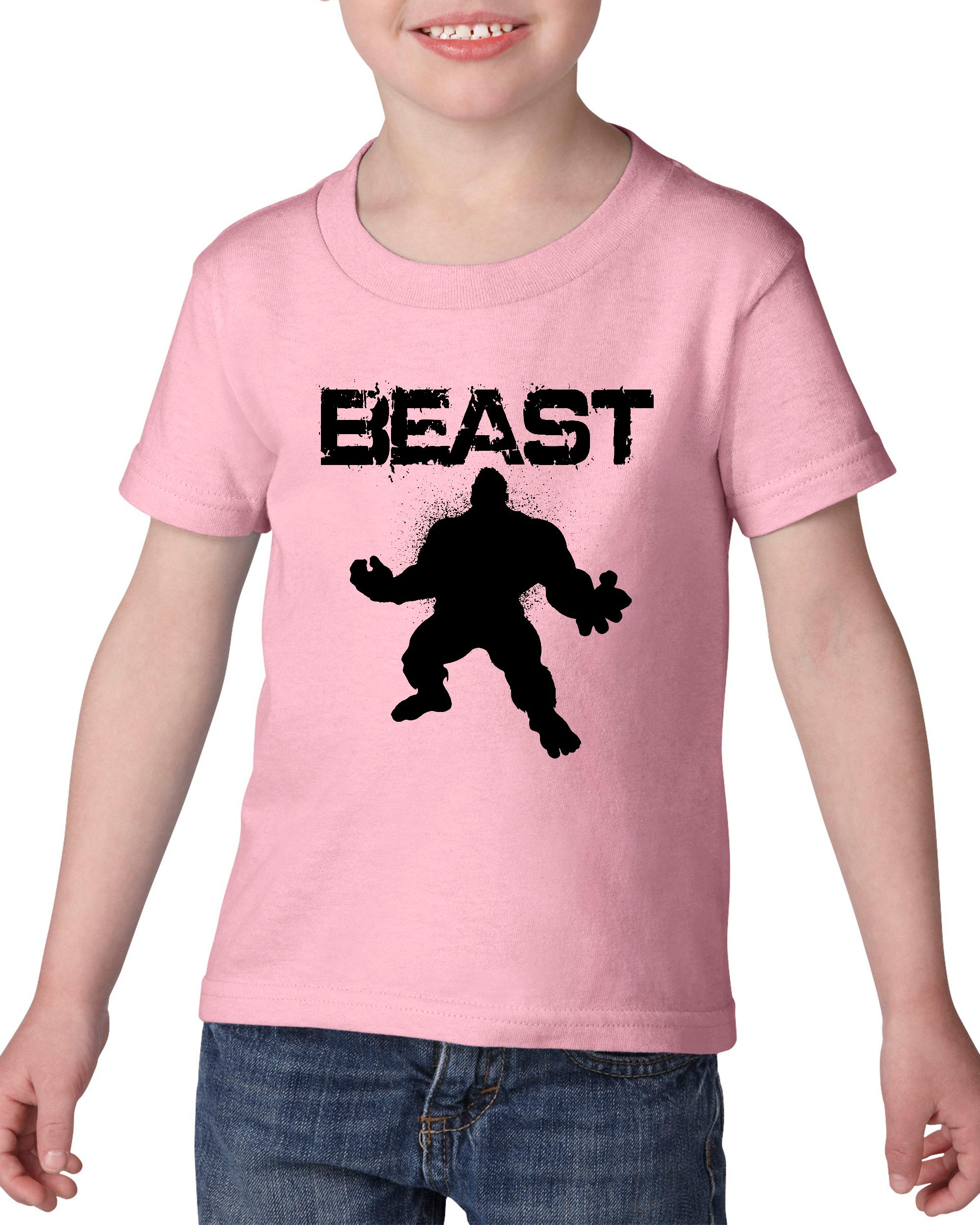 Artix Beast Guy Lift Match w Beauty Leggings Pants Shorts Gym Workout Fitness Heavy Cotton Toddler Kids T-Shirt Tee Clothing