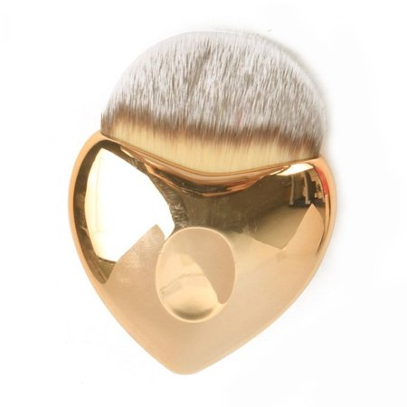 Salon-Grade Heart Shaped Cosmetic Brush For Face Foundation Blush Use
