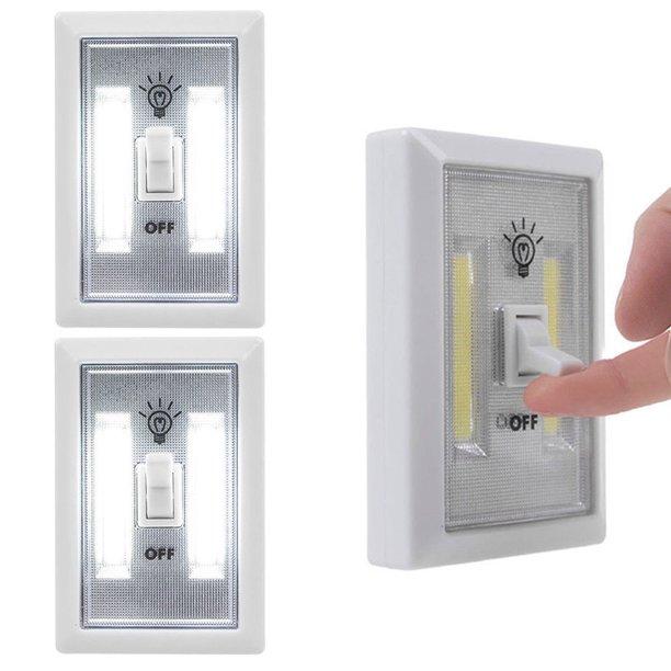 2 Cob Lights Switch Led Night Lamp