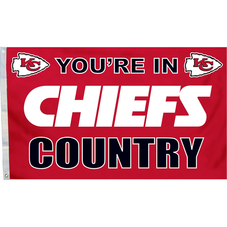 Kansas City Chiefs Country 3' x 5' Flag