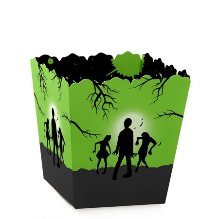 Halloween Birthday Goodie Bag Ideas (Zombie Zone - Party Mini Favor Boxes - Halloween or Birthday Zombie Crawl Party Treat Candy Boxes - Set of)
