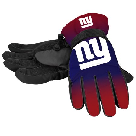 Forever Collectibles - NFL Gradient Big Logo Insulated Gloves-Small/Medium, New York