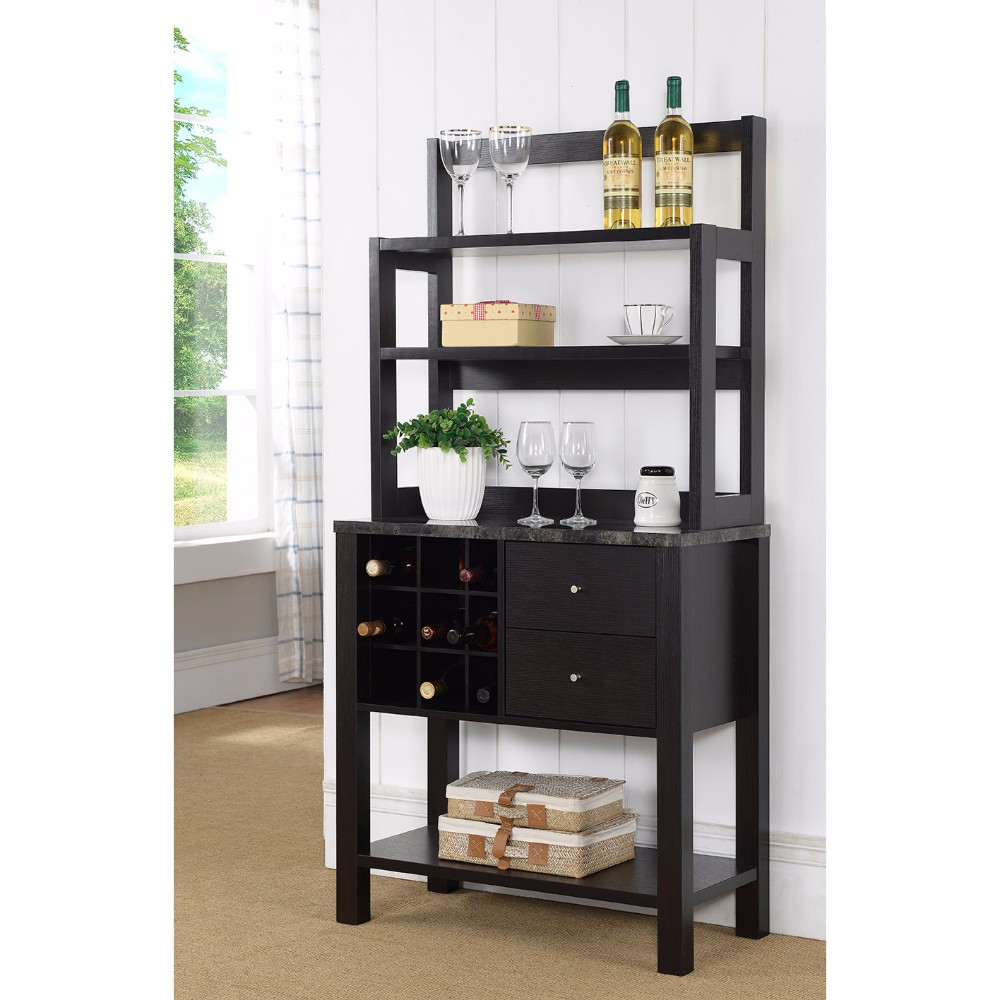 Well- Designed Efficient Baker's Rack, Dark Brown