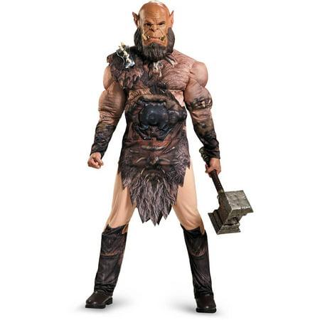 Warcraft Orgrim Deluxe Muscle Men's Adult Halloween Costume, - Warcraft Halloween