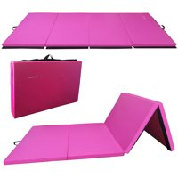 "Everyday Essentials 2"" Thick Tri-Fold Folding Exercise Mat with Carrying Handles for MMA, Gymnastics and Home Gym Protective Flooring"