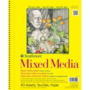 Strathmore ST362-9 9 in. x 12 in. 300 Series Mixed Media Pads - 40 Sheets