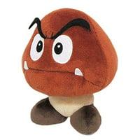 "Little Buddy LLC, Super Mario All Star Collection: Goomba 6""Plush"