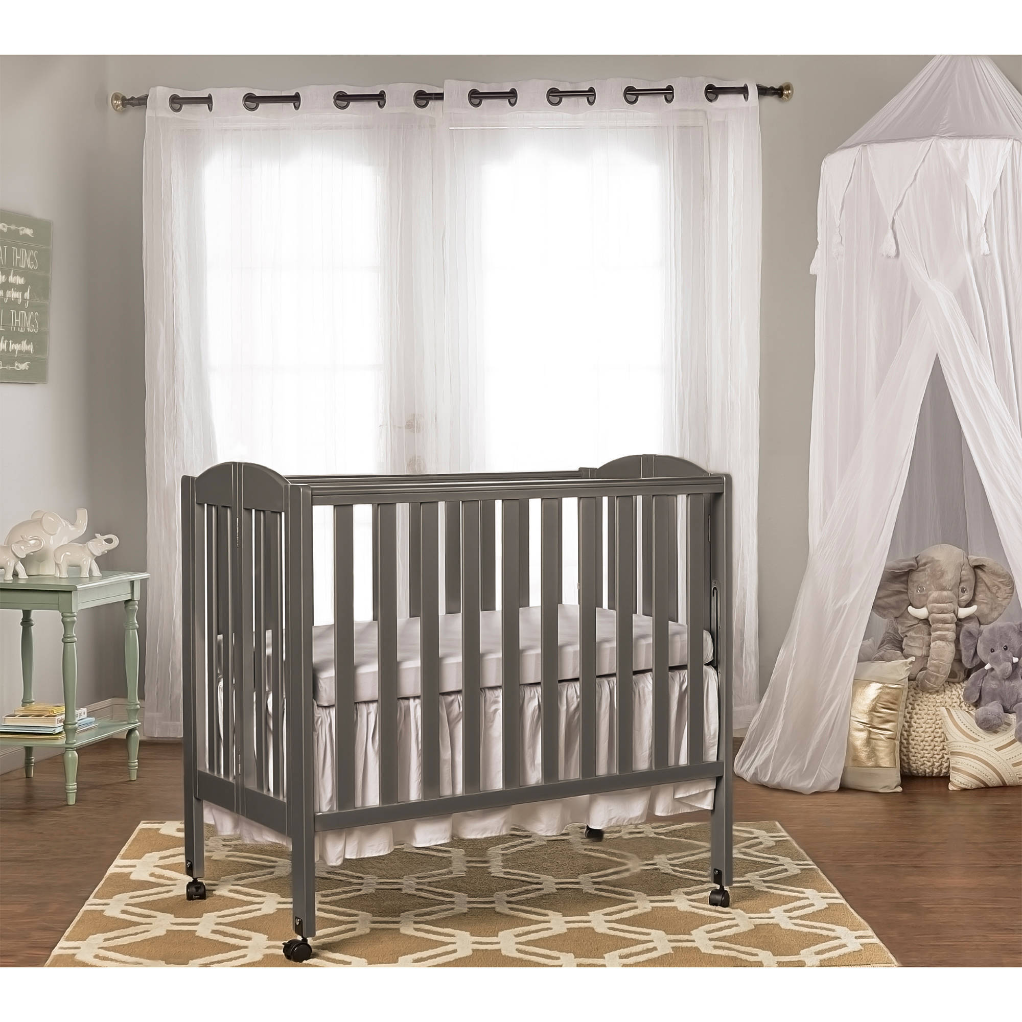 Dream On Me 3-in-1 Portable Crib Gray